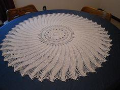 Swirl Tabletopper Doily by Patricia Kristoffersen,  PKCrochet.com