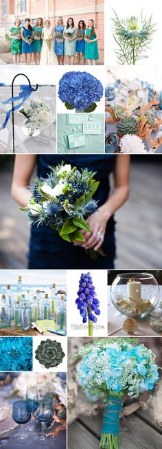 Aqua Culture Wedding Inspiration - Wedding Trend for 2014 - #WeddingFlowers #WeddingTrends2014