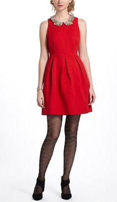 REVEL: Red Brocade Dress
