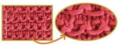 punto palillo, de aguja, punto dos, dos aguja, punto lizi, punto de, pin punto, knit