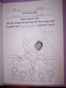 kindergarten rhyming ideas