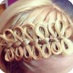 Bow braid. Super cool!
