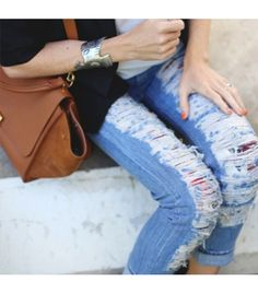 HUDSON Distressed Denim in @Who What Wear's EPIC ROUNDUP OF STREET STYLE OUTFITS TO TRY NOW