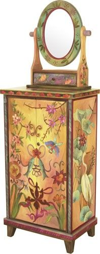 ♥ Love the painitngs on this furniture