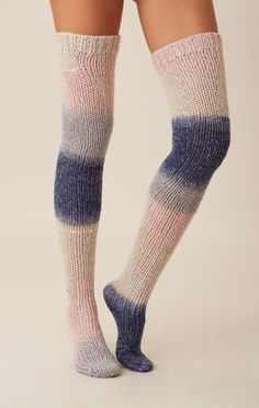 CHASER OMBRE OVER THE KNEE SOCK