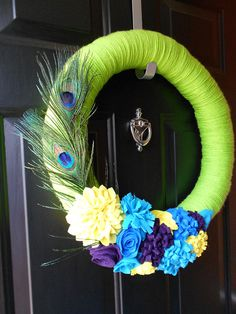 spring wreath, or a summer one. love these colors.
