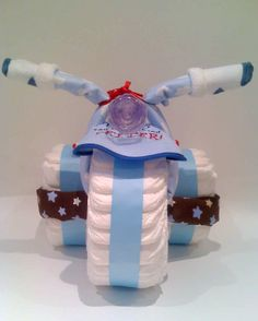 """for a baby boy """"diaper cake"""""""