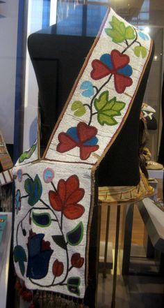 1900 Plains Ojibway (First Nations) Bandolier bag at the Royal Ontario Museum, Toronto