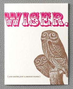 Wiser letterpress birthday card