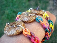 Acorn Cap Rubber Band Bracelet Autumn Collection by RazzleDazzleCompany, $3.75