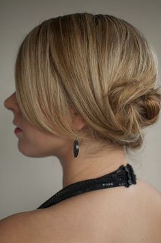 Day 16 of the Hair Romance hairstyle challenge - low twisted chignon