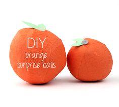 DIY orange surprise balls for the stocking...