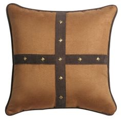 Jennifer Taylor Clovis Pillow with Self Cord and Studs