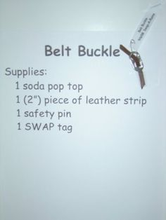Belt buckle swap -   Yup, I made that!: Girl Scout Swap A Rama