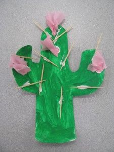 Cactus craft. Love this!
