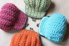 Monederos de ganchillo #ganchillo #crochet #manualidades #monederos