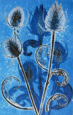 Monoprinting with plants by Jackie Curtis