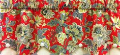 "Venezla Cameo Valance 50""w x 16""l in color Vermillion. Reg. $94.99 on Sale $89.99.  To Order Call toll-free 877-722-1100"