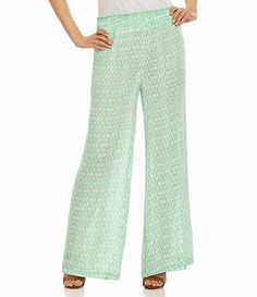 Mint printed palazzo pants More