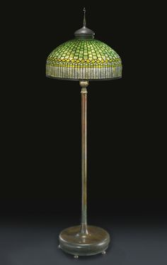 Tiffany lamps and stained glass on pinterest tiffany for 1908 studios tiffany blue dragonfly floor lamp