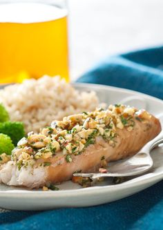 Baked White Fish with Pine Nut, Parmesan, and Basil Pesto Crust | Rec ...