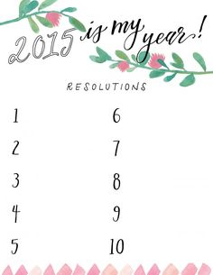 2015 resolutions fre