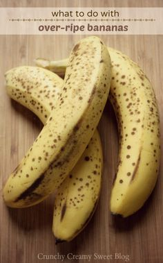 What to do with over ripe bananas (recipe round up)... Over 50 recipes that use ripe bananas