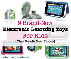 9 New Electronic Learning Toys for Kids [Plus Reviews and Buy-it-Now Prices]