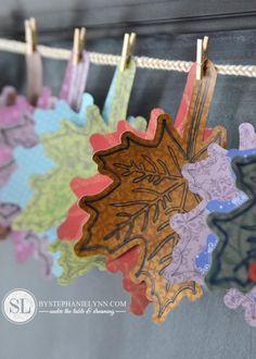 Handmade Paper Leaf Garland #fall