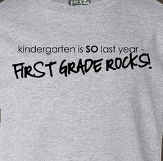 Back to School Kindergarten is so last year tshirt by zoeysattic, $15.00 (I'm so going to have this shirt next year) Ha! HA! Love it!!