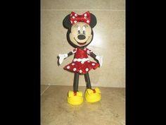 Goma Eva Minnie Mouse | AMY AMY - Fofuchas - muñeca de goma eva (foamy doll) paso a paso ...