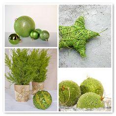 Citrus green homemade star ornaments