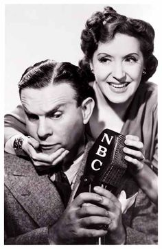 Gracie Allen and husband George Burns.