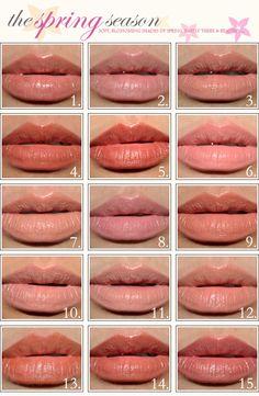 1.Benefit Sugar Cookie Lipstick  2.Chanel Mythic Lipstick  3.Cle de Peau #103 Extra Silky Lipstick  4.Guerlain Barbara Rouge G Le Brilliant Lipstick  5.Guerlain Forever Beige Lipstick  6.Guerlain Gardenia Rouge G Lipstick  7.Guerlain Guerlinade Rouge G Lipstick  8.Julie Hewett Simone Lipstick  9.Korres #34 Nude Guava Lipstick  10.Lancome Rich Cashmere Lipstick  11.MAC Cherish Lipstick  12.MAC Freckletone Lipstick  13.MAC Honeyflower  14.MAC Touch  15.Maybelline Caramel Kiss