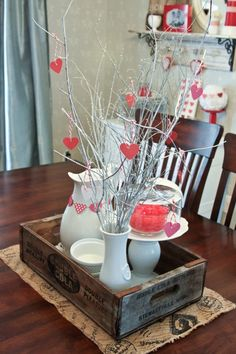 Valentine Centerpiece - 18 Romantic DIY Home Decor Project for Valentine's Day