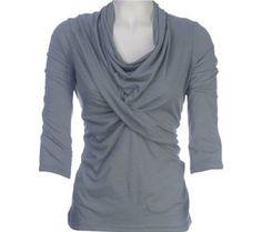Ojai Clothing Women's Cowl Neck Wrap Cotton Shirt