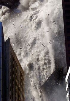 North Tower collapse
