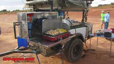 Front swing-out kitchen box Sean made for his Compact. He discusses it and building / using his Dinoot in an article he wrote for Off-Road.com http://www.off-road.com/trucks-4x4/project/dinoot-trailer-building-a-diy-offroad-explorer-54055.html