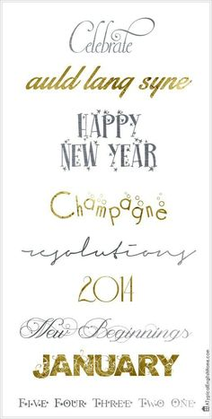 New Year #Fonts