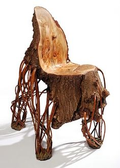 Dutch designer Floris Wubben created a chair from an inverted willow tree
