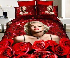 #Marilyn Monroe #red #roses  Buy link-->http://goo.gl/PK7aN9 Discover more-->http://goo.gl/92nRH8 Live a better life,start with @beddinginn