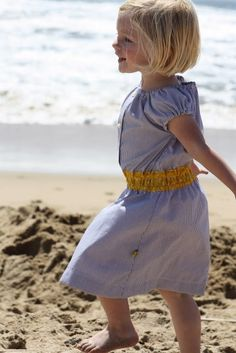 repurpose a man's button down for a cute dress for your little one