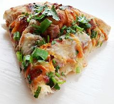 California Pizza Kitchen's Thai Chicken Pizza. Delish!! And i could make it without cheese!