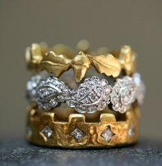 ✕ Cathy Waterman stacked rings