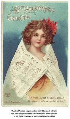free valentine vintage printable