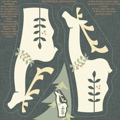 Reindeer Ornament fabric by ttoz on Spoonflower - custom fabric