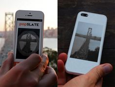 PopSlate – An iPhone Case With An E-Ink Screen, you can snap a picture of whatever you want and use that to personalize the case, or use picture found on internet