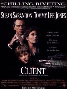 the Client - 1994 : based on the novel of John Grisham - whatever novels he wrote, I read them all and saw all the movies.  Love legal thrillers.