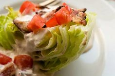 Chipotle blue cheese dressing and wedge salad