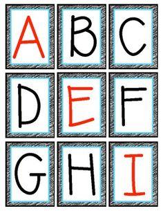 Free Alphabet Flashcards